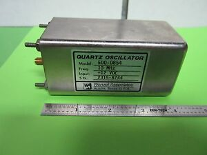 Wenzel Quartz Oscillator 10 Mhz Frequency Calibrator Standard Low Noise Bin 38
