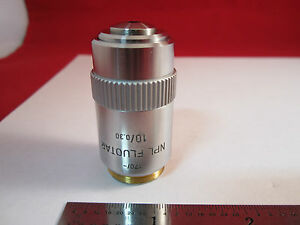 Optical Microscope Objective Fluotar 10x Leitz Wetzlar Germany Optics Bin ort