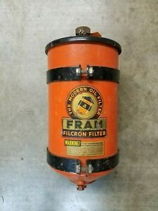 Vintage Nos Fram Filcron Oil Filter Hot Rod Truck Rat Rod Semi Truck
