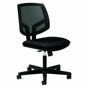Hon Volt Upholstered Task Chair Mesh Back Computer Chair For Office Desk Blac