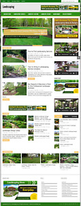 Landscaping Information Niche Blog Website With Free Installation And Setup