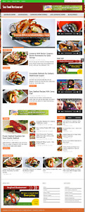 Sea Food Restaurant Niche Blog Website With Free Installation And Setup