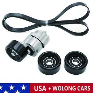 Serpentine Belt Tensioner Pulley Kit Fit For 2006 2010 Sonata Optima Rondo 2 4l