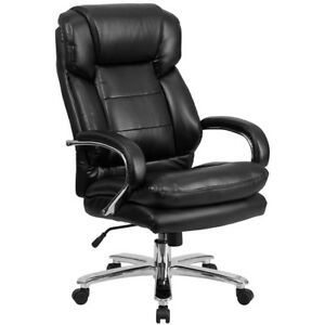 Executive Desk Chair Office Leather Big And Tall 500 Lb Capacity Black High Back