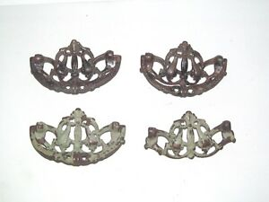 4 Drawer Pull Handle 3 5 Ornate Brass Antique Vintage Dresser Eastlake