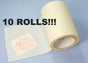 10 Rolls 6 x100 Paper Transfer Tape Wet Application Vinyls