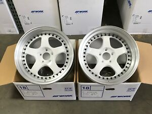 Work Meister S1 3p 5x114 3 18x10 31 30 R O Disk Wht Hairline Set Of 4 Wheels