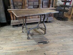 Industrial Cast Iron Base Kitchen Island Factory Tv Console Table