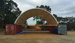 30x40x7 2 Shipping Cargo Container Garage Shelter Carport Roof Shop Building