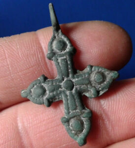 Cross Ancient Bronze Cross 9th To The Mid 13th Century Very Rare