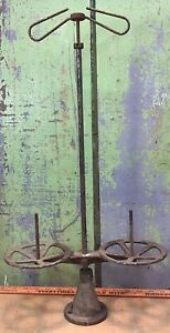 Antique Industrial Sewing Maching 2 Spool Thread Holder Cast Iron