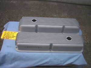 Cal Custom Fined Valve Covers Holes For Breathers 352 427ford Mustang Cougar