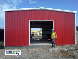 Steel Factory Mfg 30x40x13 Prefab Garage Metal Shop Storage Building Made In Usa