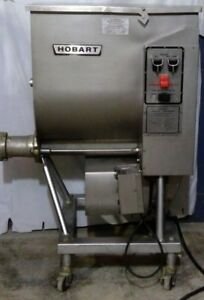 Hobart 4346 Commercial Meat Grinder mixer With Extra Blades And Screens