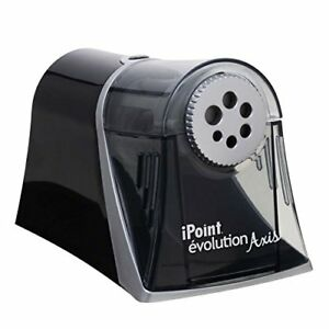 Westcott Electric Ipoint Evolution Axis Heavy Duty Pencil Sharpener Black And S