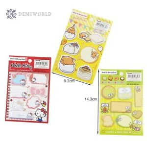 20 Pack lot Kawaii Frog Egg Cat Memo Pad Sticky Notes Paper Stickers Bookmark Ma