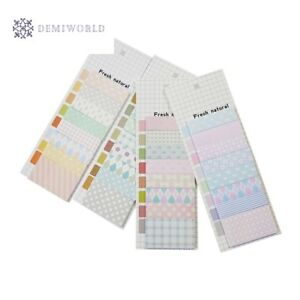 20 Pack lot Cute Memo Pad Note Sticky Paper Fresh Natural Style Planner Stickers