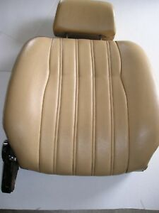 Front Seat Rear Panel With Frame Hinge Cover Headrest Fiat 124 Spider 2000 Oem