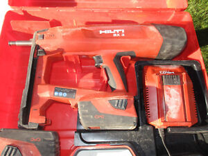 Hilti Bx 3 Actuated Fastening Tool W charger 2 Battery Case