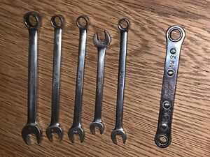 6 X Snap On Spanners 7mm 11mm 9mm 5 16 1 4 Inc 1 Rachet 1 4 5 16 Bundle Vintage