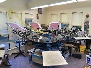 Screen Printing Equipment M r Chameleon 8 4 Atlas Dryer Much More