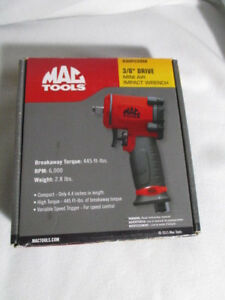 Mac Tools 3 8 Drive Mini Air Impact Wrench 445 Ft Lb Torque New In Box