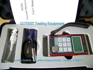 Digital Ultrasonic Thickness Gauge Meter W Menu Screen Dual Resolution Al Body