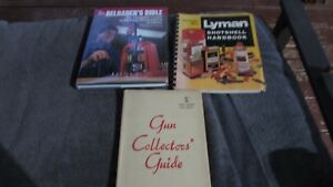 LOT OF 3 VINTAGE GUN BOOKS BULLET RELOADING MANUALS AND GUN COLLECTORS GUIDE