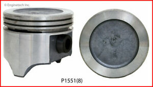 Enginetech P1551 8 std Piston Gm Olds 5 0l 307 Round Dish Top