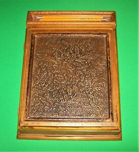 Antique Vintage Style Document Writing Slope Lap Desk Box Made To Look Old