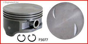 Enginetech P3077 8 060 Piston Gm Chev 8 1l 496 Flat Top Coated Skirt