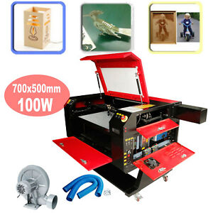 100w 500x700mm Usb Disk Co2 Laser Cutter Engraving Machine Water Pump Laser Tube