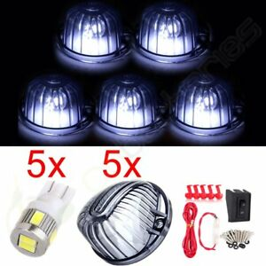 5pcs Smoke Cab Roof Marker 6smd Led Lights Lamp Wiring Kit Pack For Chevy Truck
