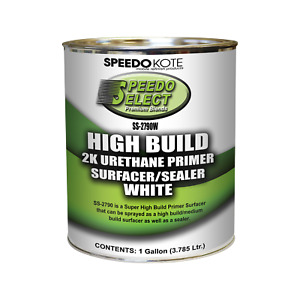 Super Fill High Build Urethane Primer White Gallon Only No Activator Ss 2790w