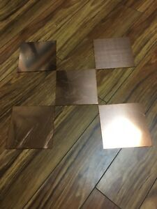 Qty 5 6x6 Copper Plate 1 16 Thick You Get 5 Pieces For 10each Plus Free S