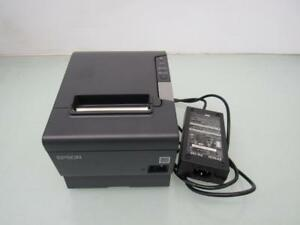 Epson Tm t88v M244a Usb Thermal Receipt Printer W ps 180 Power Supply Usb Cable