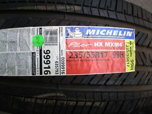 235 55 17 99h Michelin Pilot Hx Mxm4 New Tire
