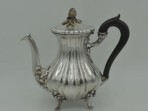Vintage French Armand Frenais Silverplate Teapot W Flower Bud Finial Silver