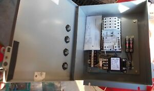 Ge 8 Pole 30a 120v Electrically Held Lighting Contactor W fused Transformer new