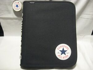 Fab Star Point All star Converse Chuck Taylor 1 5 3 ring Deluxe Zipper Binder