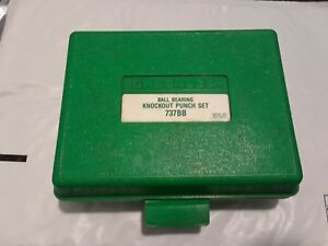 Greenlee 737bb Ball Bearing Knockout Punch Set W Case 1 1 2 And 2