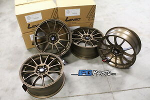 Lenso Bronze Project D Race 1 Wheels 17x7 5 5x114 3 For Rsx Civic Ilx Mustang