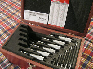 Starrett 436 1 Micrometer Set 0 6 Carbide 0001 Standards no Engravings