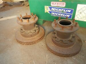 Pair Ford Dana 60 Front Drw Budd Wheel Hubs Dually F350 No Shipping