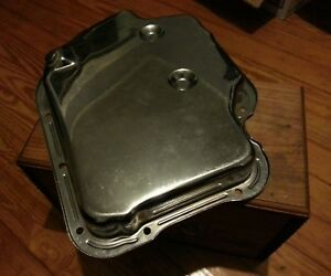 Chrome Automatic Transmission Pan Stock Capacity Th400 Gm Chevy Turbo 400