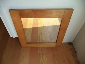 Vintage Square Wood Framed Wall Mirror Rustic Primitive Shaker Style