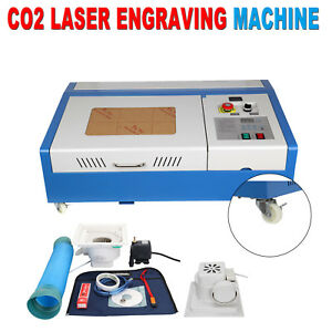 40w Co2 Usb Laser Engraving Cutting Machine 300x500mm Water Cooling W 4 Wheels
