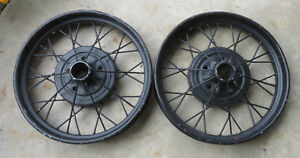 Ford Model A 1927 29 Vintage 21 X 3 Pair Of Wire Spoke Wheel