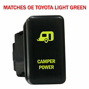 Push Switch 865ng 12volt For Toyota Oem Camper Power Tacoma Led New Green
