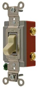 Hubbell Hbl1222i Double Pole Toggle Switch Ivory